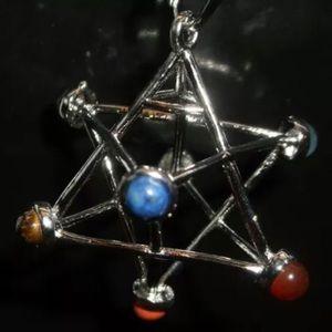 Sacred geometry star tetrahedron merkaba pendant